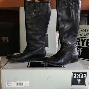 Frye Pippa back zip tall boots